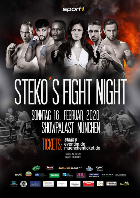 Stekos Fight Night Februar 2020 - Showpalast München