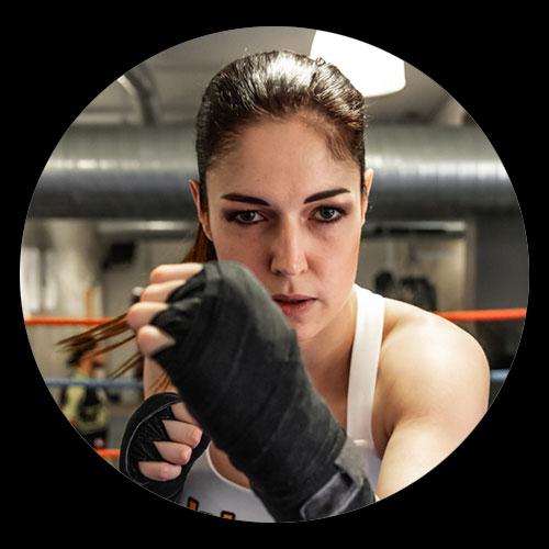 Stekos Kampfsportstudio München - Trainerin Marie Lang
