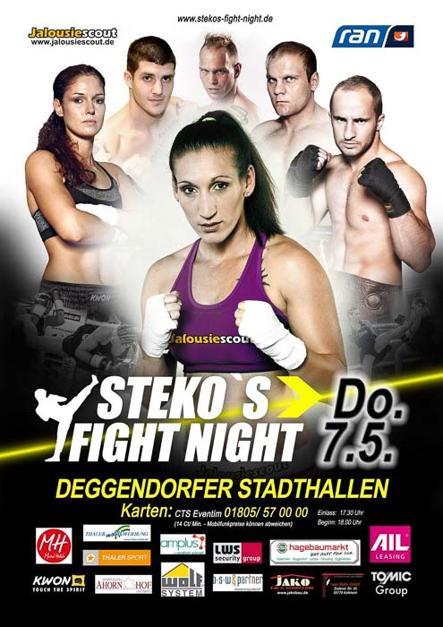 Stekos Kampfsportzentrum München Fight Night kabeleins ran Boxen WKA WKU ISKA Mai - Deggendorfer Stadthallen