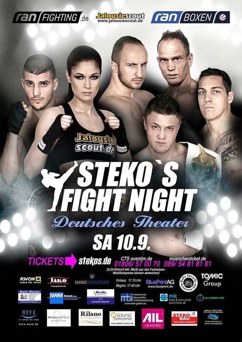 Stekos Kampfsportzentrum München Fight Night Sat.1 ran Boxen WKA WKU ISKA September - Deutsches Theater