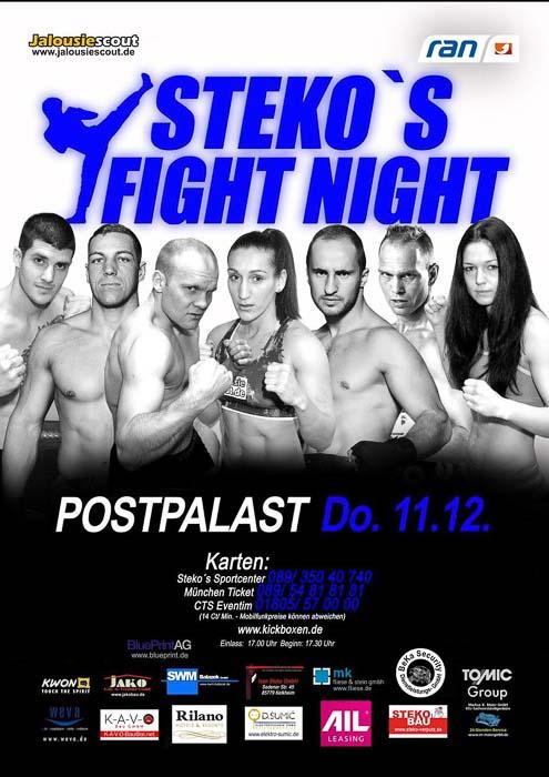 Stekos Kampfsportzentrum München Fight Night ran WKA WKU ISKA Dezember - Postpalast