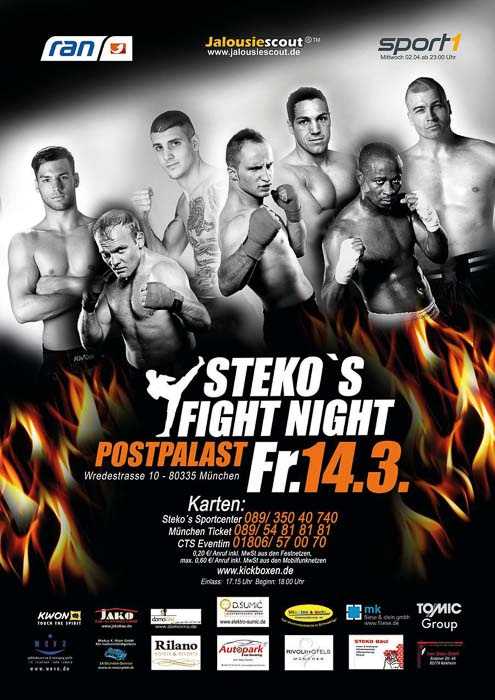 Stekos Kampfsportzentrum München Fight Night ran sport1 WKA WKU ISKA März - Postpalast
