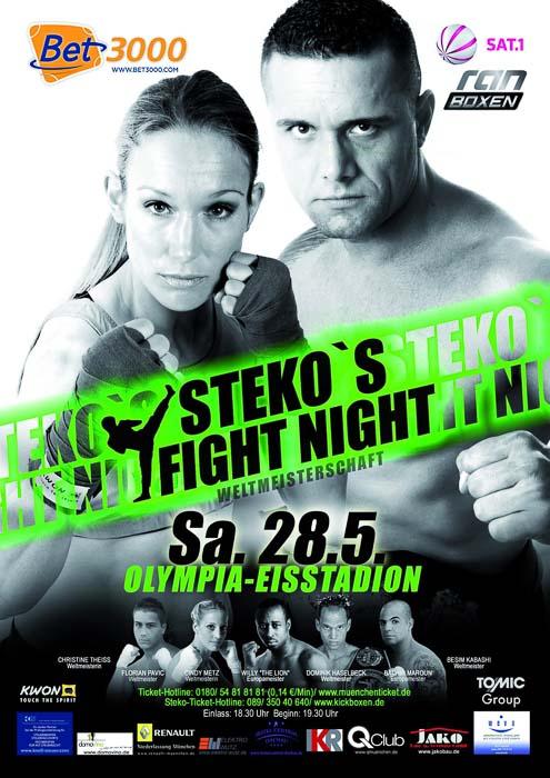 Stekos Kampfsportzentrum München Fightnight Sat.1 ran Boxen WKA WKU ISKA Weltmeisterschaft Mai - Olympia Eisstadion