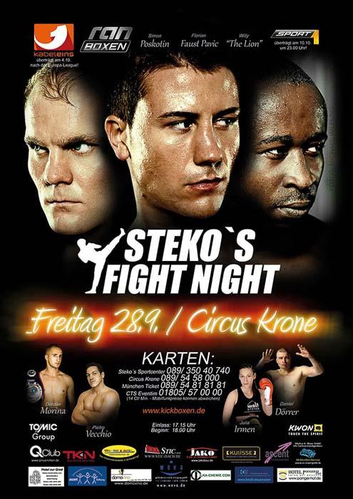 Stekos Kampfsportzentrum München Fight Night Sport1 kabeleins ran Boxen WKA WKU ISKA September - Circus Krone