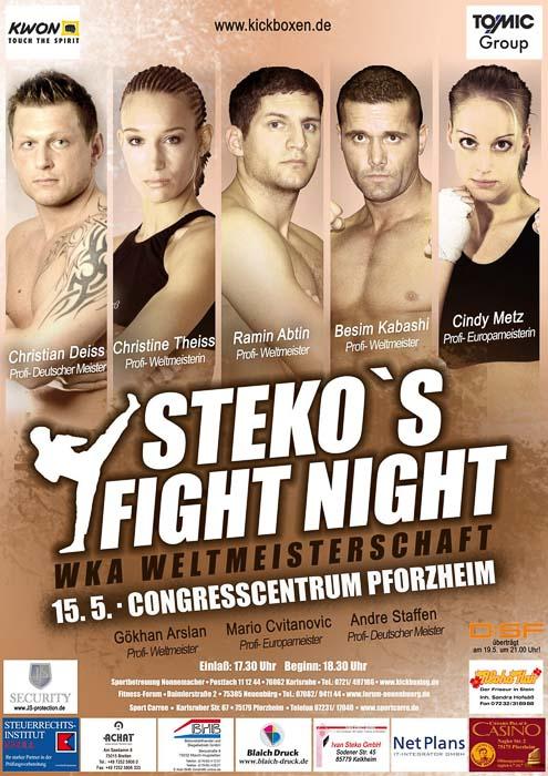 Stekos Kampfsportzentrum München Fightnight WKA Weltmeisterschaft Mai -Congresscentrum Pforzheim