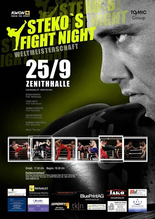 Stekos Kampfsportzentrum München Fightnight WKA-, WKU-, ISKA- Weltmeisterschaft September - Zenith Halle