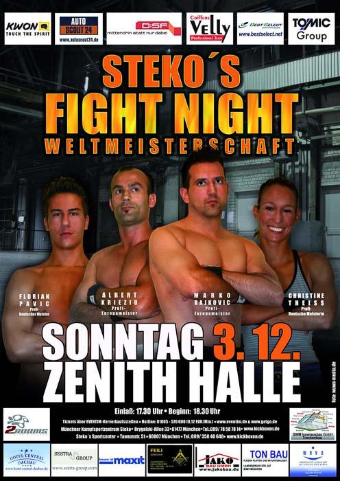 Stekos Kampfsportzentrum München Fight Night WKA WKU ISKA WeltmeisterschaftDezember - Zenith Halle