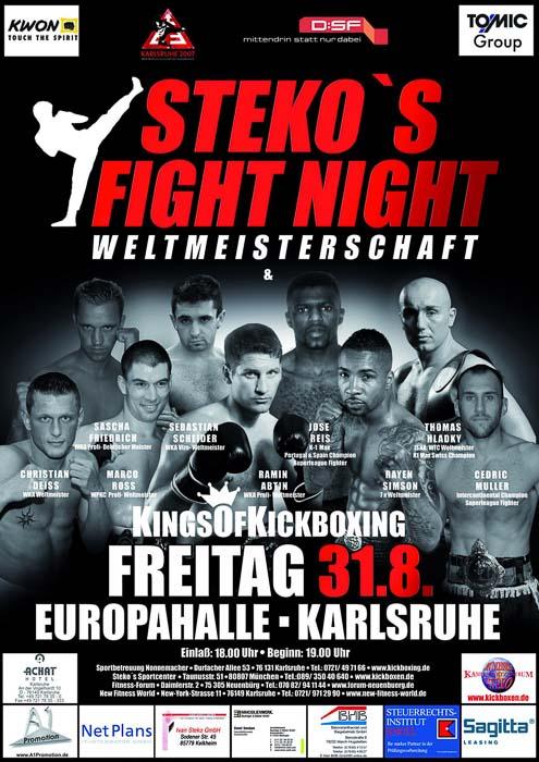 Stekos Kampfsportzentrum München Fight Night WKA WKU ISKA Weltmeisterschaft Kings of Kickboxing August - Europahalle Karlsruhe