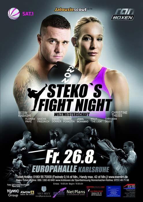 Stekos Kampfsportzentrum München Fight Night Sat.1 ran Boxen WKA WKU ISKA Weltmeisterschaft August - Europahalle Karlsruhe