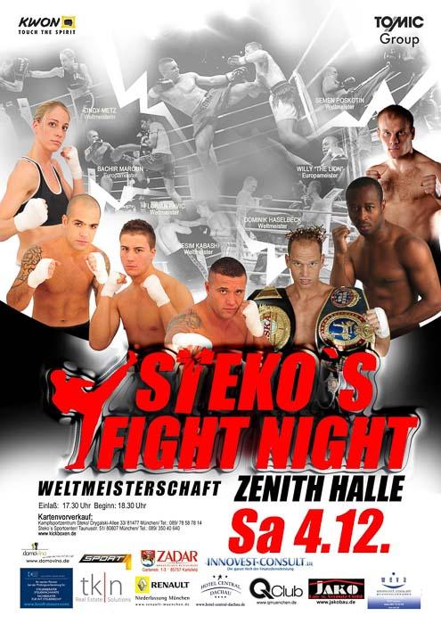 Stekos Kampfsportzentrum München Fightnight WKA WKU ISKA Weltmeisterschaft Dezember - Zenith Halle