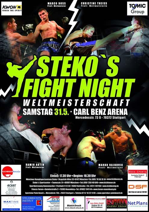 Stekos Kampfsportzentrum München Fightnight WKA-, WKU-, ISKA-Weltmeisterschaft Mai - Carl Benz Arena München