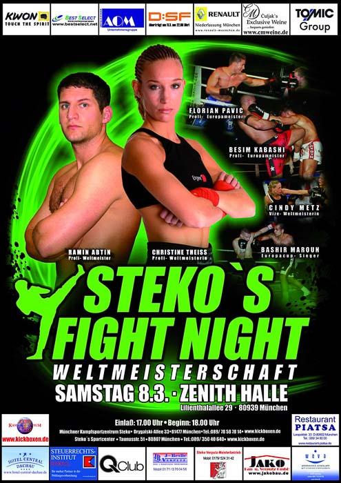 Stekos Kampfsportzentrum München Fight Night WKA WKU ISKA Weltmeisterschaft März - Zenith Halle