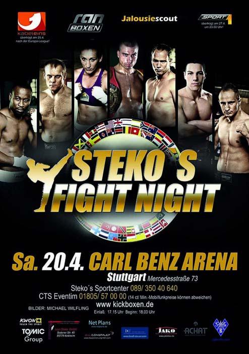 Stekos Kampfsportzentrum München Fight Night Sport1 kabeleins ran Boxen WKA WKU ISKA April - Carl Benz Arena