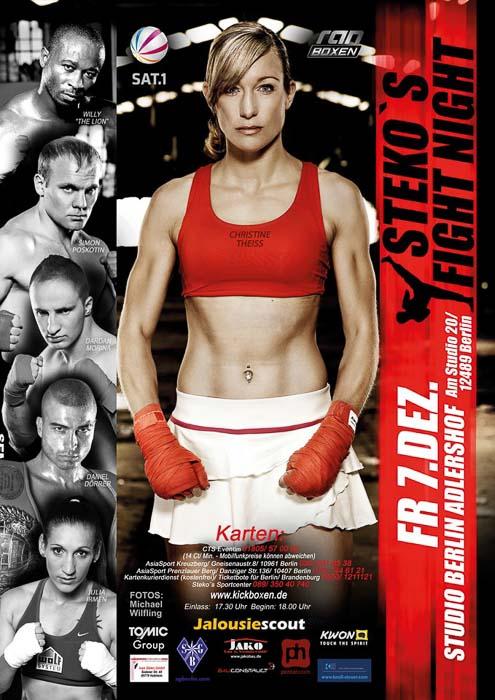 Stekos Kampfsportzentrum München Fight Night Sat.1 ran Boxen WKA WKU ISKA Dezember - Studio Berlin Adlershof