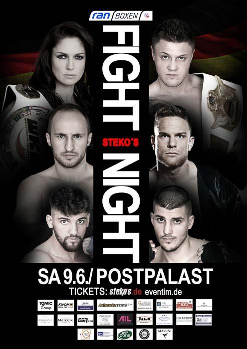 Stekos München Fightnight Juni 2018 - Sat.1 ran Boxen Postpalast