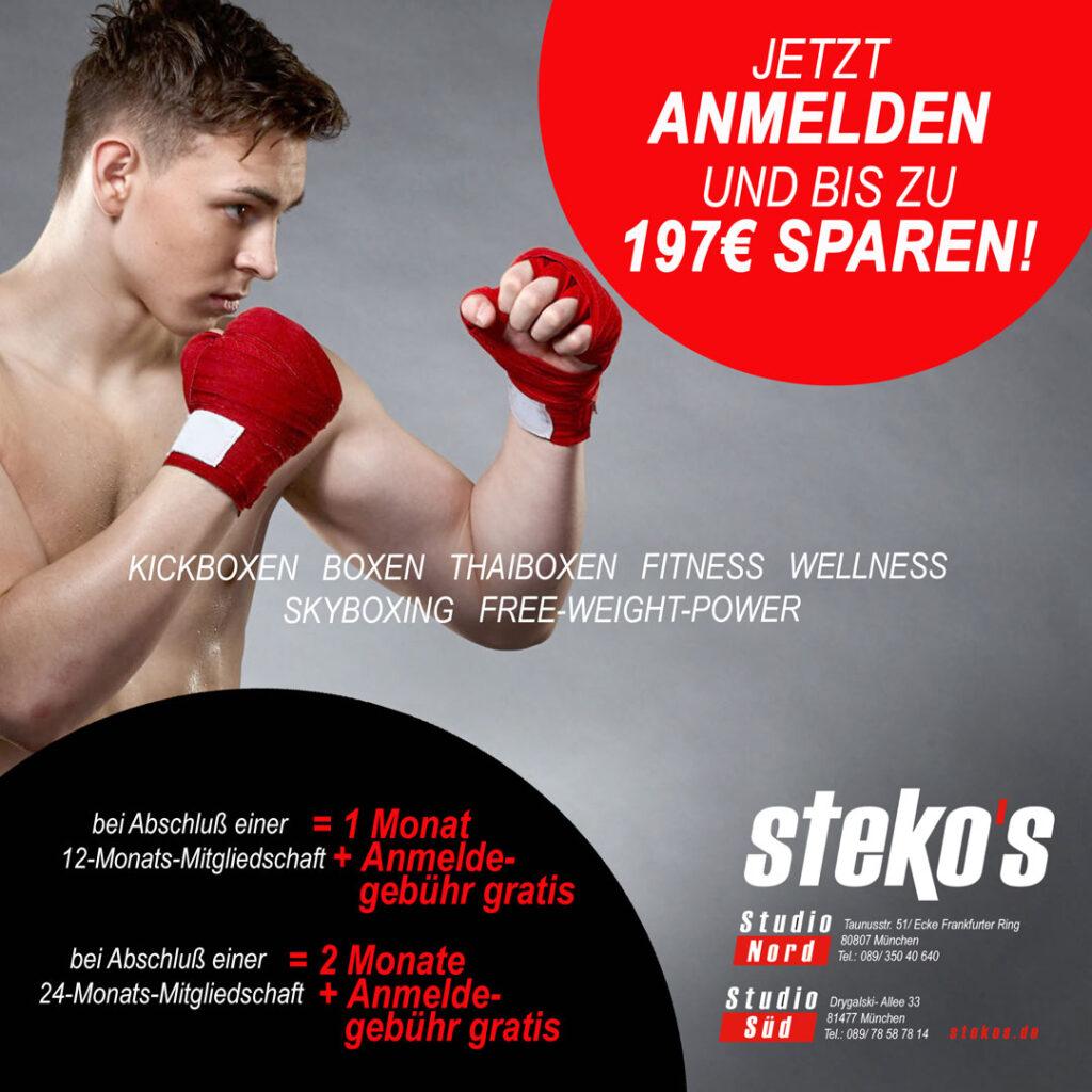 Stekos Kampfsportstudio München - Aktion - Sparen